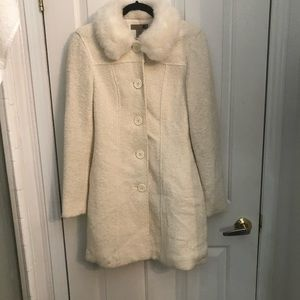 Vintage wool Forever 21 coat with faux fur